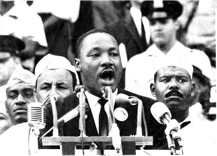 Martin Luther King Jr. delivering  his 'I Have a Dream' speech on Aug. 28, 1963. UPI Photo